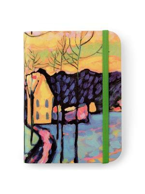 Флорентийская записная книжка. Зимний пейзаж Власта. Цвет: голубой, желтый, розовый