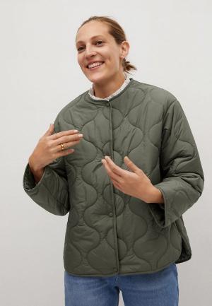 Куртка утепленная Mango. Цвет: серый