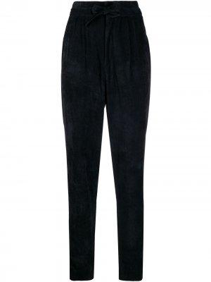 Зауженные брюки с завышенной талией Isabel Marant. Цвет: черный