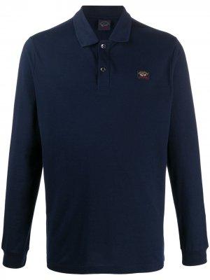 Рубашка поло с длинными рукавами Paul & Shark. Цвет: синий