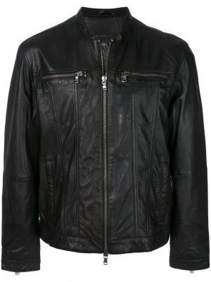 Байкерская куртка на молнии John Varvatos. Цвет: черный
