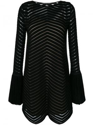 Flared embroidered dress Antonino Valenti. Цвет: чёрный