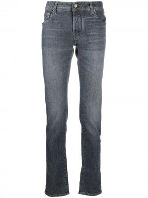 Узкие джинсы средней посадки Jacob Cohen. Цвет: синий
