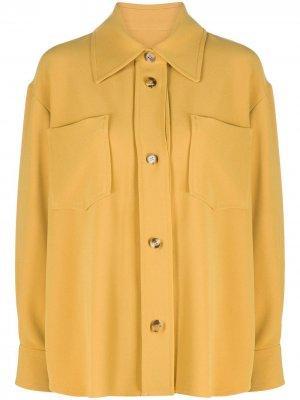 Креповая рубашка Alberto Biani. Цвет: желтый