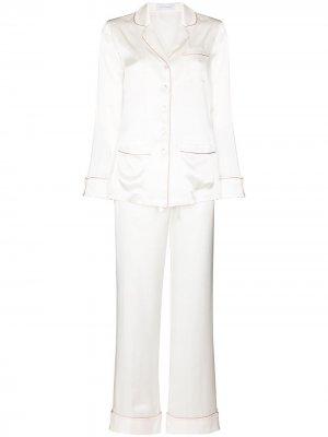 Two-piece silk pajama set Olivia von Halle. Цвет: белый