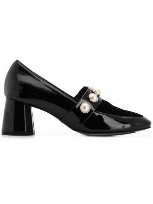 Faux pearl loafer pumps Suecomma Bonnie. Цвет: черный