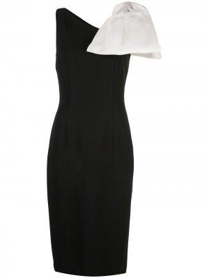 Платье на одно плечо с бантом Sachin & Babi. Цвет: черный