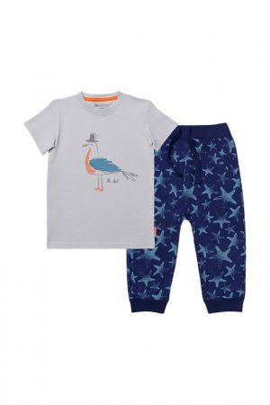 Комплект: футболка, брюки Kogankids. Цвет: синий