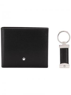 Bifold wallet and keyring set Montblanc. Цвет: черный