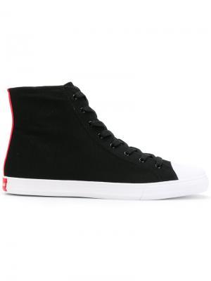 Хайтопы со шнуровкой Calvin Klein 205W39nyc. Цвет: черный