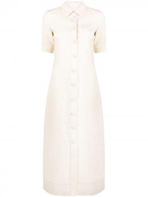 Платье-рубашка с короткими рукавами Jil Sander. Цвет: нейтральные цвета
