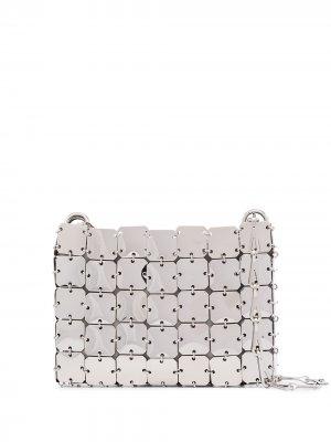 Мини-сумка Iconic 1969 Square Paco Rabanne. Цвет: золотистый