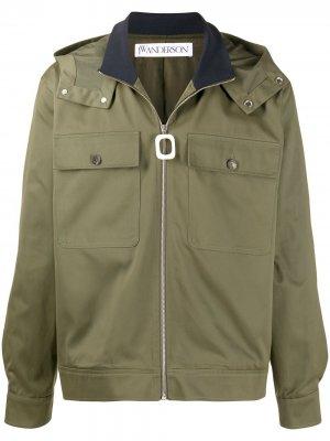 Куртка на молнии JW Anderson. Цвет: зеленый