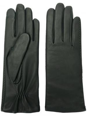 Touch ruched gloves Filippa-K. Цвет: зеленый