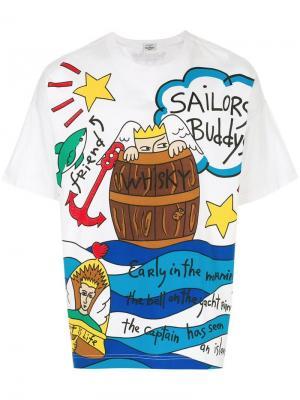 Футболка Sailor Jc De Castelbajac Vintage. Цвет: белый