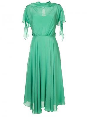 Платье миди CAMILLA AND MARC. Цвет: зеленый