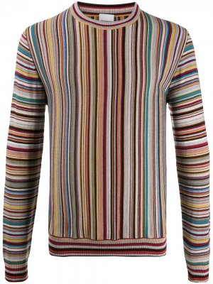 Полосатый свитер Paul Smith. Цвет: желтый