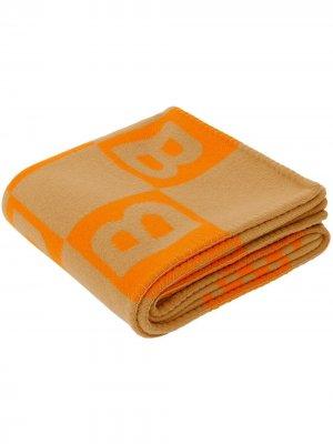 Плед с узором Burberry. Цвет: оранжевый