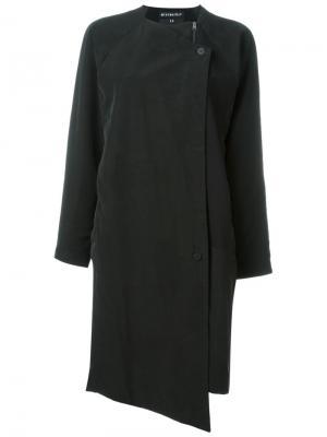 Однобортное пальто Soul Minimarket. Цвет: черный