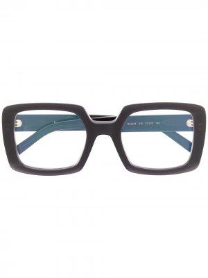 Очки в массивной прямоугольной оправе Marni Eyewear. Цвет: черный