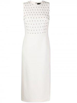 Платье с заклепками David Koma. Цвет: белый