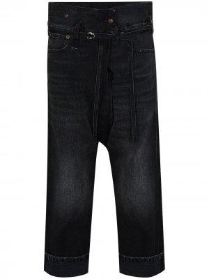 Укороченные джинсы Staley R13. Цвет: черный