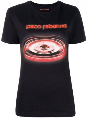Футболка с логотипом Paco Rabanne. Цвет: черный