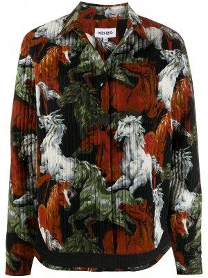 Куртка оверсайз с принтом Kenzo. Цвет: оранжевый