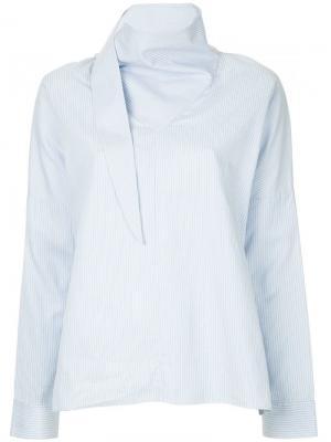 Рубашка с отделкой в стиле банданы Tibi. Цвет: синий