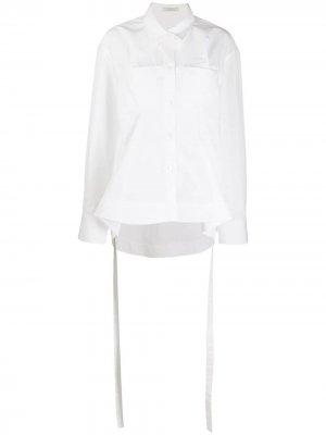 Рубашка с баской Nina Ricci. Цвет: белый
