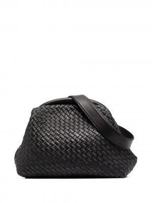 Плетеная поясная сумка Officine Creative. Цвет: черный