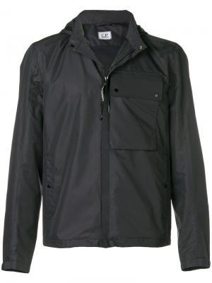 Непромокаемая куртка с капюшоном CP Company. Цвет: синий