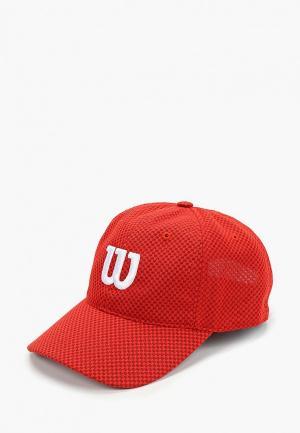 Бейсболка Wilson. Цвет: красный