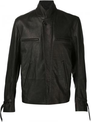 Пилотная куртка с застежкой-молнией Ann Demeulemeester. Цвет: чёрный