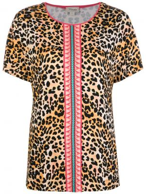Leopard print T-shirt Temperley London. Цвет: нейтральные цвета