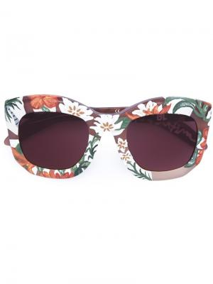 Солнцезащитные очки Mask B2 Kuboraum. Цвет: розовый и фиолетовый