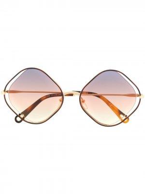 Солнцезащитные очки Poppy Chloé Eyewear. Цвет: золотистый