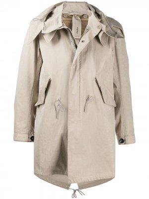 Пальто с застежкой тогл Ten C. Цвет: нейтральные цвета