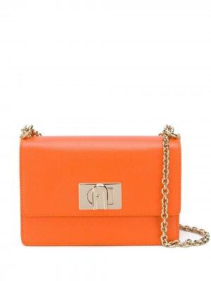 Сумка через плечо 1927 Furla. Цвет: оранжевый