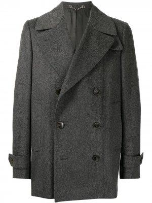 Двубортное пальто Gucci. Цвет: серый
