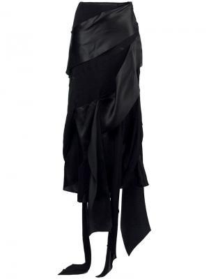 Юбка миди драпированная Christian Lacroix Vintage. Цвет: черный