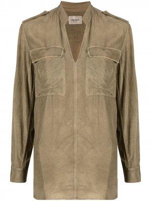 Блузка с нагрудным карманом Dondup. Цвет: зеленый