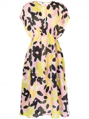 Расклешенное платье с цветочным принтом Stine Goya. Цвет: разноцветный