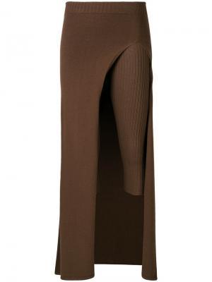 Укороченные брюки-парео Jacquemus. Цвет: коричневый