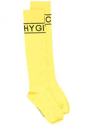 Носки с логотипами бренда Givenchy. Цвет: жёлтый и оранжевый