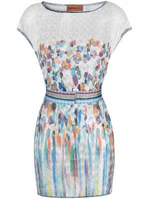 Пляжное платье Missoni Mare. Цвет: белый