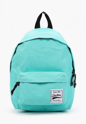 Рюкзак Skechers. Цвет: бирюзовый