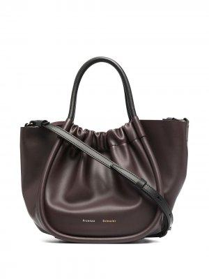 Маленькая сумка-тоут со сборками Proenza Schouler. Цвет: коричневый