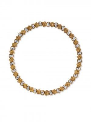 Колье-чокер 1941-1960-х годов из желтого золота с бриллиантами Van Cleef & Arpels. Цвет: золотистый