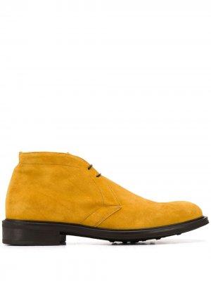 Ботинки дезерты Stevean Scarosso. Цвет: желтый